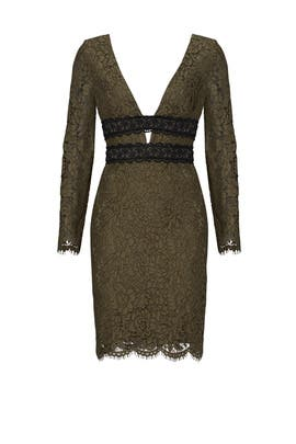 Green Lace Cutout Dress by Diane von Furstenberg