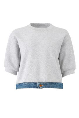 Denim Waistband Sweatshirt by Harvey Faircloth