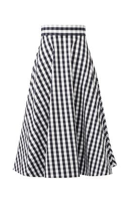Gingham Circle Skirt by kate spade new york