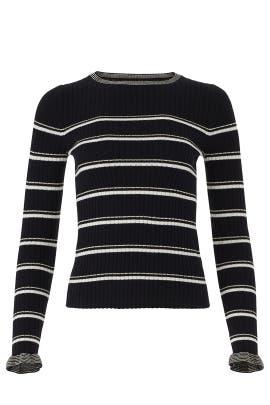 Black Striped Pullover by La Vie Rebecca Taylor