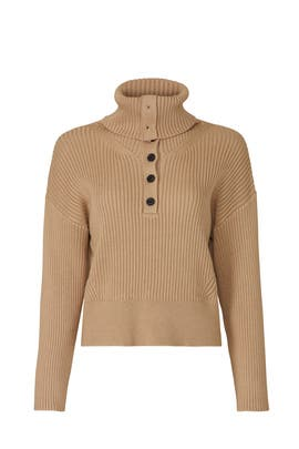 Turtleneck Button Sweater by Marissa Webb Collective