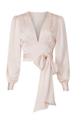 Blush Tie Waist Blouse by Marissa Webb Collective