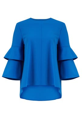 Elbe Blue Top by Tibi