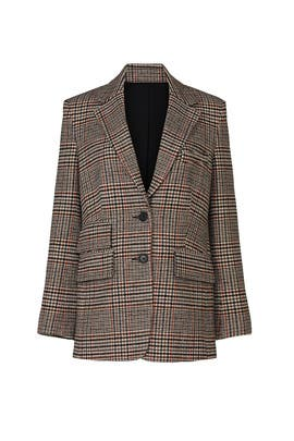 Brown Plaid Blazer by Thakoon Collective