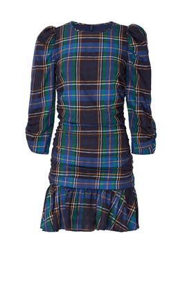 Plaid Raven Dress by Tanya Taylor