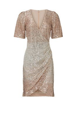 Champagne Sequin Mini Dress by Badgley Mischka