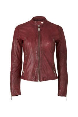 Borgogna Leather Jacket by DOMA
