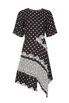 Polka Dot Panel Dress by Koché