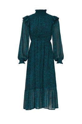 Teal Peasant Dress by Louna