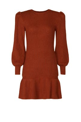 Rust Sweater Dress by Love, Whit by Whitney Port