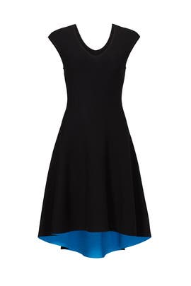 Black and Blue High Low Dress  by Milly