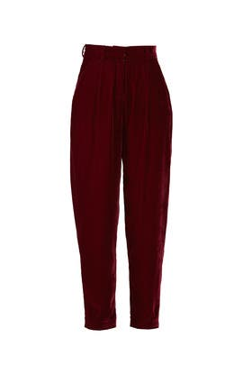 Slim Velvet Trousers by PatBO