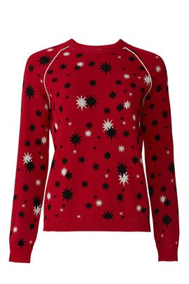 Red Star Printed Sweater by RED Valentino