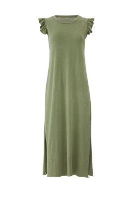 Green Ruffle Midi Dress by Sundry