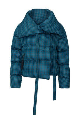 Blue Pied Puffa Jacket by Bacon