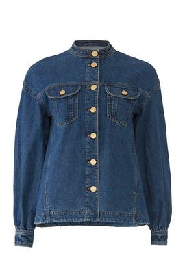 Bishop Sleeve Denim Jacket by Co