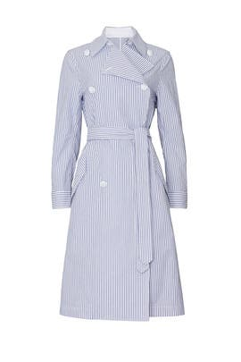 Adriene Striped Trench Coat by rag & bone