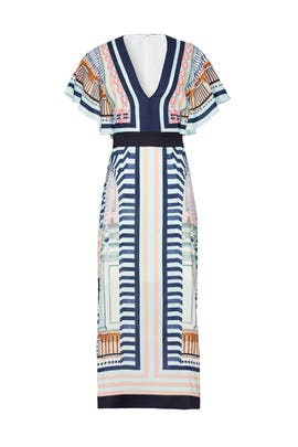 Obelisk V-Neck Dress by Temperley London
