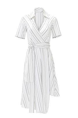 White Stripe Vivien Dress by Alexis