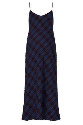 Blue Ricky Maternity Slip Dress by HATCH