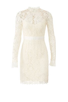 Ivory Lace Sheath Dress by ML Monique Lhuillier