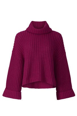 Cropped Turtleneck Sweater by Peter Som Collective