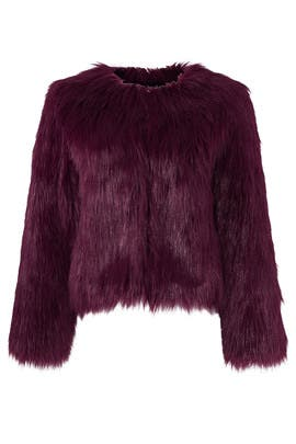 Plum Faux Fur Jacket by Unreal Fur