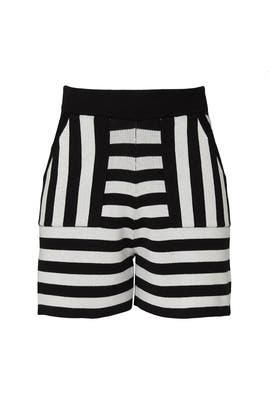 Broken Stripe Shorts by Victor Glemaud