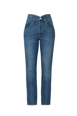 Tulip High Rise Slim Fit Jeans by AMO
