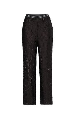 Black Just A Dreamer Sequin Pants by Free People