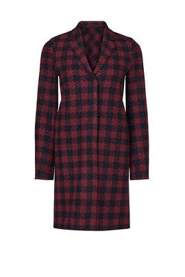 Red Gingham Coat by Harris Wharf London