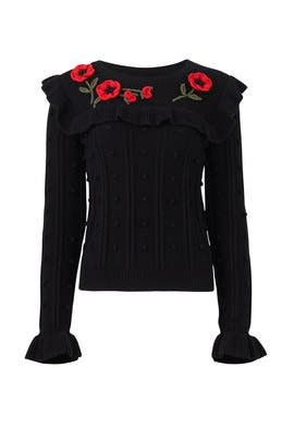 Poppy Embroidered Sweater by kate spade new york