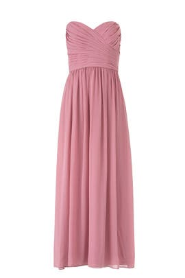 Cerise Madeline Gown by Monique Lhuillier Bridesmaid