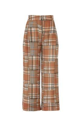 Plaid Wide Leg Pants by PatBO