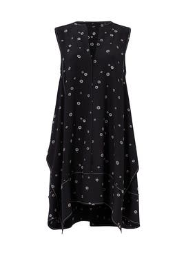 Black Rocket Sunflower Dress by Proenza Schouler