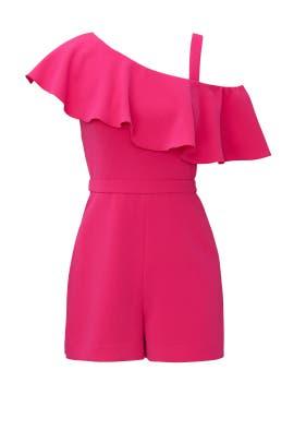 Pink Ruffle Romper by Rachel Zoe