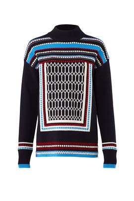 Navy Sara Sweater by Tory Burch