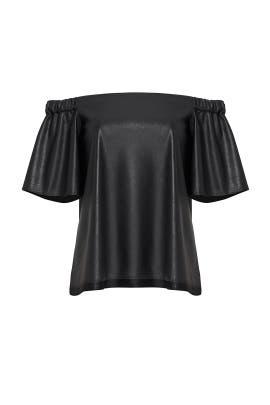 a823134b24e6ac Bailey 44. Read Reviews. Black Faux Leather Off Shoulder Top