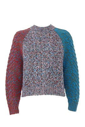 Multi Colorblock Sweater by Jil Sander Navy