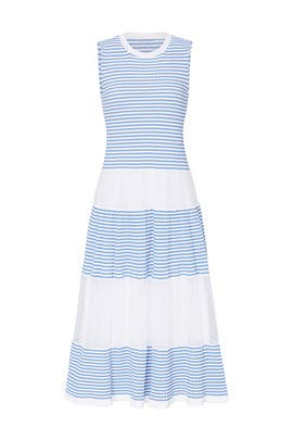 Blue Stripe Panel Maxi by RED Valentino