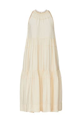 Tiered Ruffle Halter Dress by Rosetta Getty
