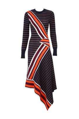 Petrol Mix Knit Dress by Temperley London