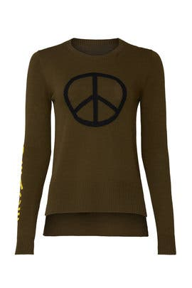Peace Graphic Sweater by Victor Alfaro Collective