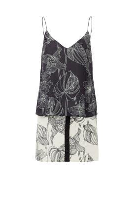 Black Flora Fauna Tank Dress by Corey