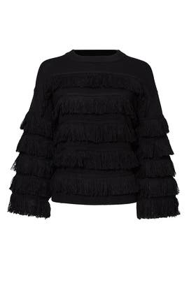 Black Ruffle Sweater by English Factory