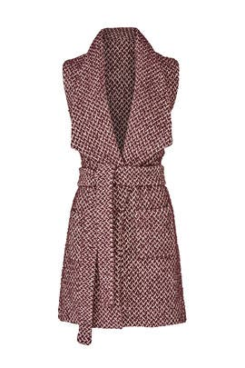 Merlot Tweed Vest by Paper Crown