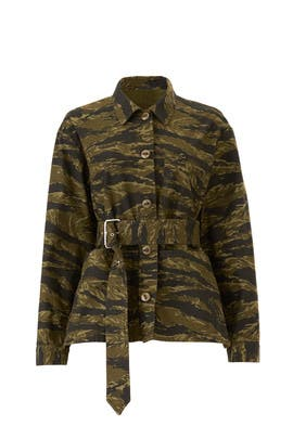 Camo Print Jacket by Proenza Schouler White Label