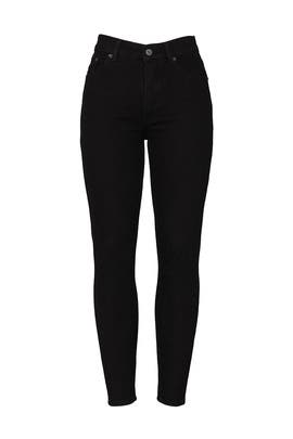 Black Serena High Skinny Crop Jeans by Reformation