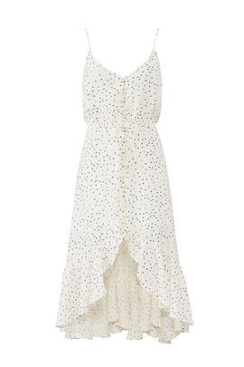 White Printed Frida Dress by Rails