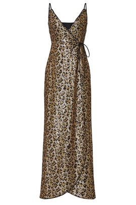 Leopard Sequin Wrap Dress by Aidan AIDAN MATTOX